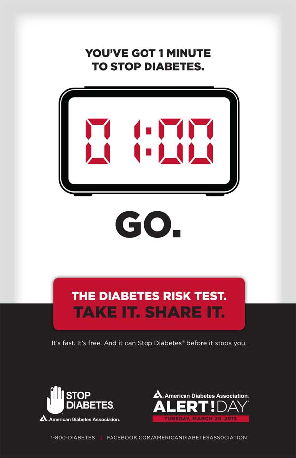 alert day do you have one minute to stop diabetes