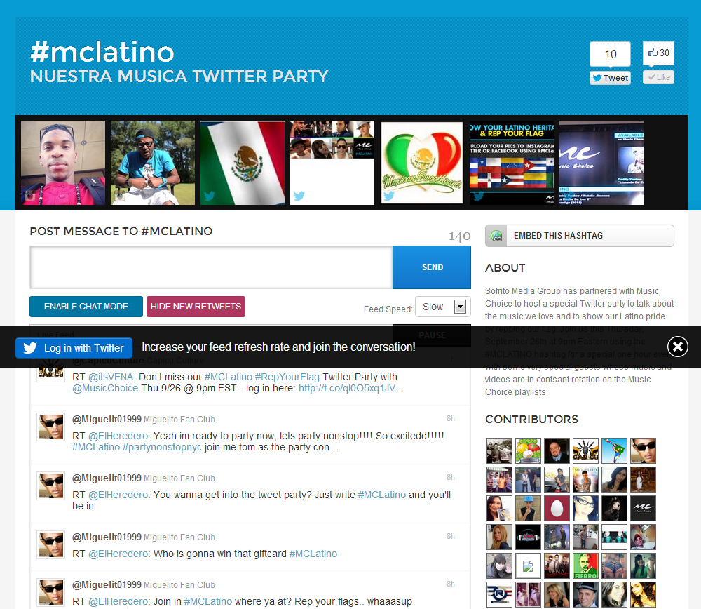mclatino   Nuestra Musica Twitter Party