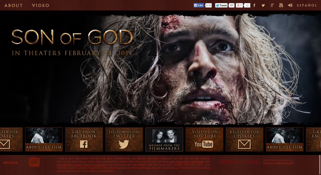 Son of God   Official Movie Site   In Theaters February