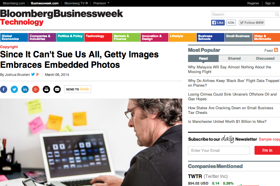 Since It Can t Sue Us All  Getty Images Embraces Embedded Photos   Businessweek