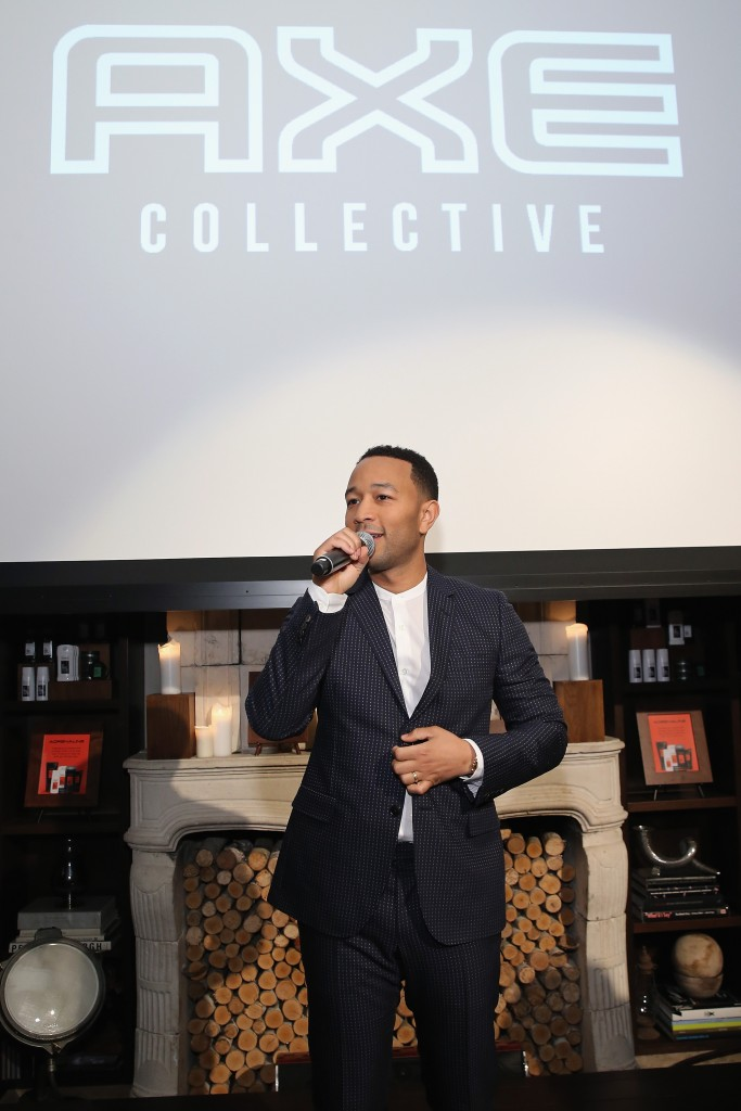 "NEW YORK, NY - JANUARY 13: AXE and John Legend reveal the new 2016 AXE Collective at the ""Find Your Magic"" launch event on January 13, 2016 in New York City. (Photo by Neilson Barnard/Getty Images for Axe) *** Local Caption *** John Legend"