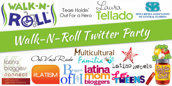 walk-n-roll, spina bifida, sba, laura tellado, twitter party